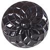 La Finesse kastknopje zwart reliëf