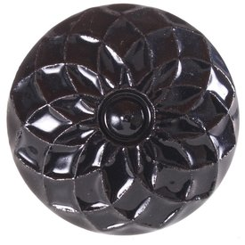 La Finesse La Finesse kastknopje zwart reliëf