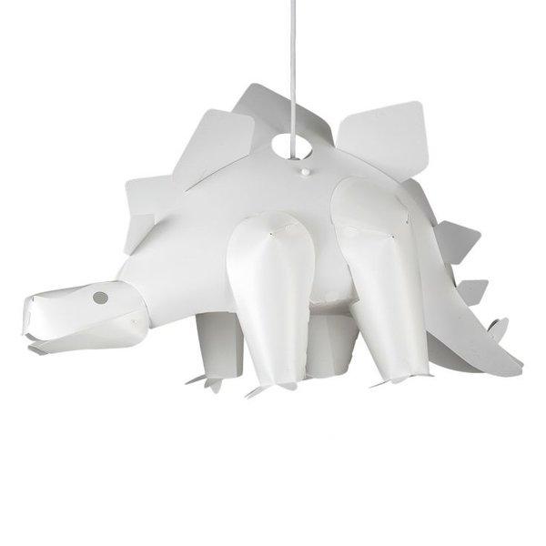 Kinderlamp dino stegosaurus wit
