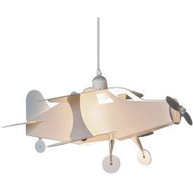 Kinderlamp vliegtuig wit