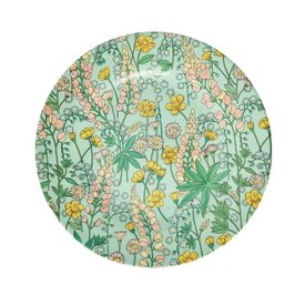 rice Denmark Rice melamine bord bloemen rond Lupine print