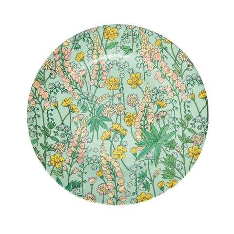 Rice melamine bord bloemen rond Lupine print