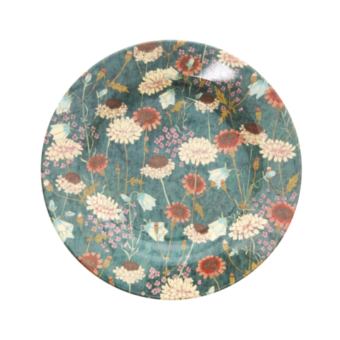 Rice melamine bord bloemen rond Fall Flower print