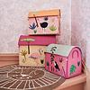 Rice speelgoedmand huis jungle flamingo extra groot