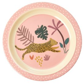 rice Denmark Rice melamine kinderbord Jungle luipaard print