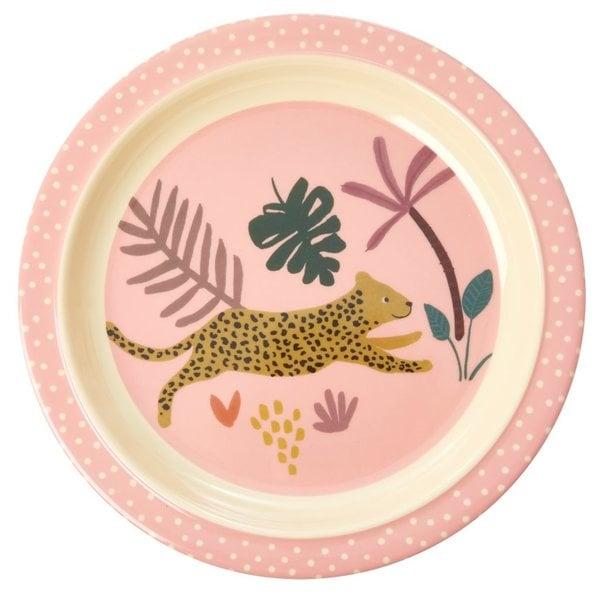 rice Denmark Rice melamine kinderbord jungle luipaard print