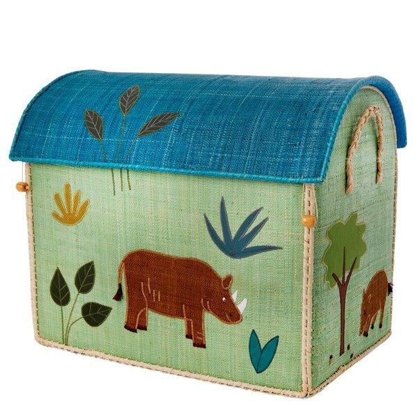 rice Denmark Rice speelgoedmand huis jungle neushoorn