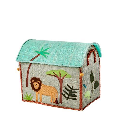 Rice speelgoedmand  huis Jungle leeuw
