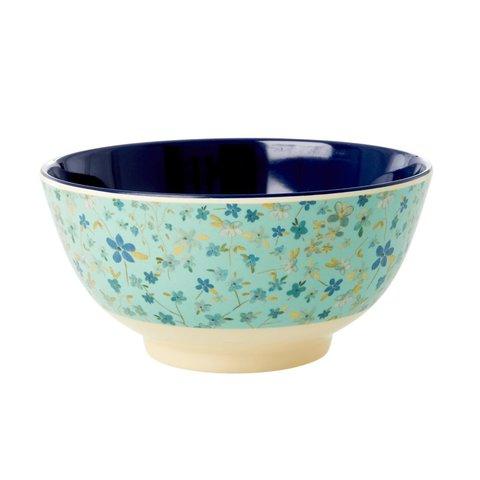 Rice melamine schaal bloemen Blue Floral print