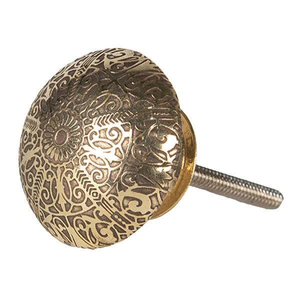 Clayre & Eef Clayre & Eef deurknopje halfrond goud reliëf