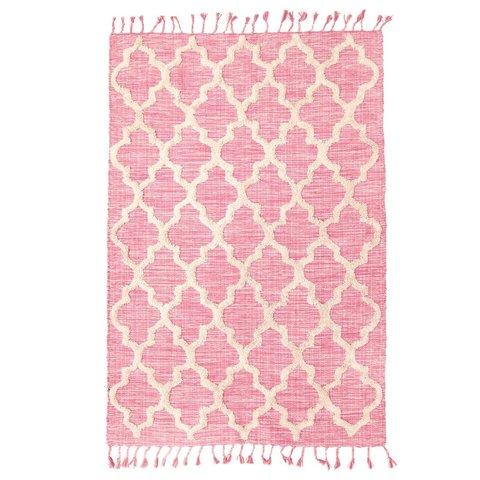 Rice vloerkleed ruiten roze