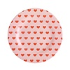 Rice melamine bord rond hartjes Sweet Hearts print