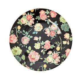 rice Denmark Rice melamine bord bloemen rond Dark Rose print