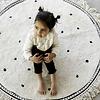 Tapis Petit vloerkleed kinderkamer rond Anna Dots cream