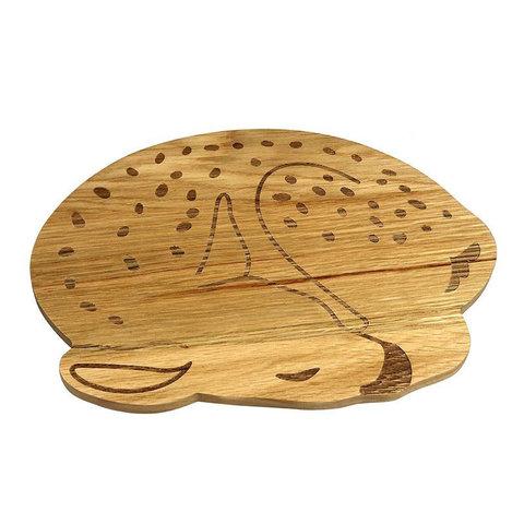 The Zoo houten kinderbord hertje