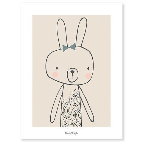 Lilipinso poster kinderkamer konijn  Blanche
