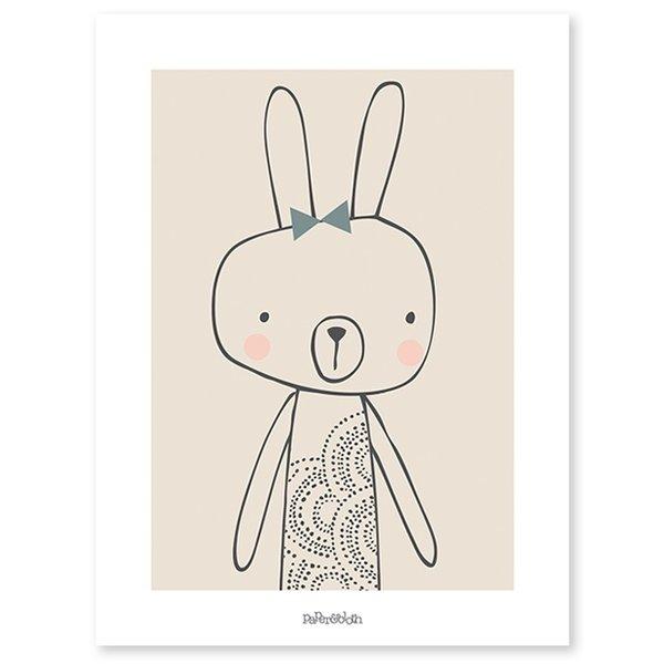 Lilipinso Lilipinso kinderposter konijn Blanche