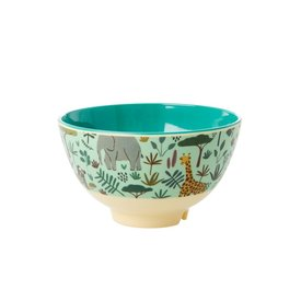 rice Denmark Rice melamine schaaltje All Over Jungle print groen