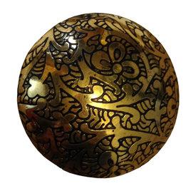 La Finesse La Finesse kastknopje goud met bloemen en takken patroon