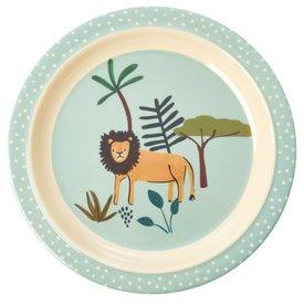 rice Denmark Rice melamine kinderbord Jungle leeuw print