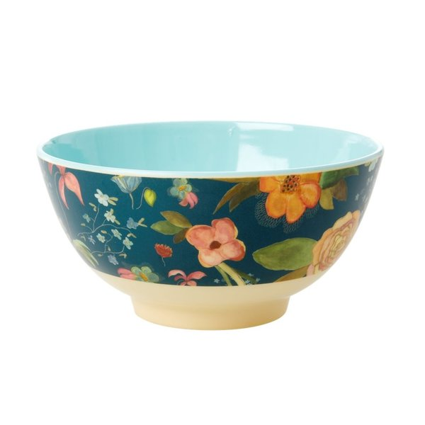 rice Denmark Rice melamine kom bloemen Blue Floral print - Copy