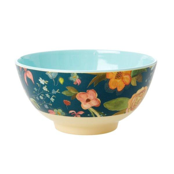 rice Denmark Rice melamine kom bloemen Blue Floral print