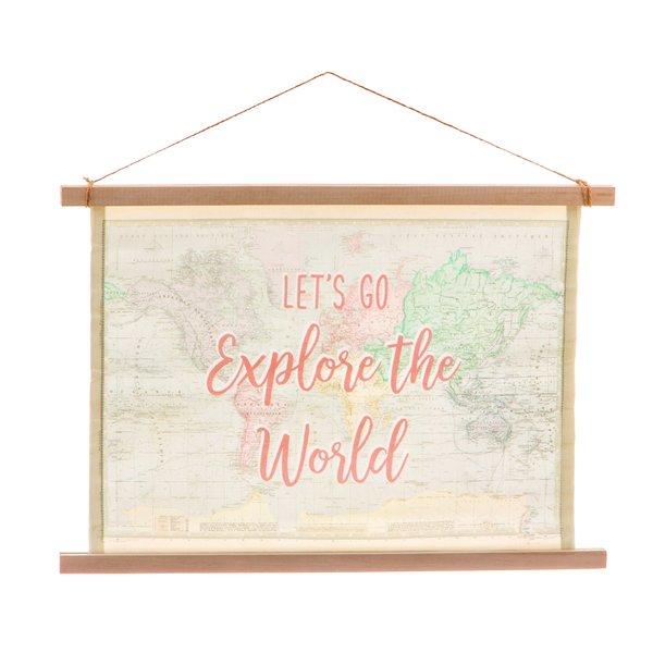 Sass & Belle Djeco poster kinderkamer wandkaart World Explorer