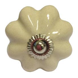 Deurknop bloem creme