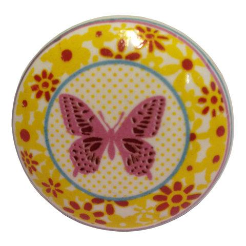 La Finesse kastknopje vlinder bloemen frame