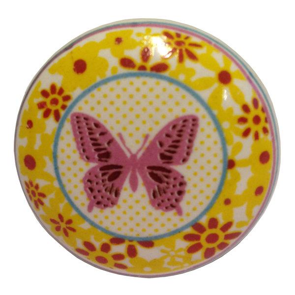La Finesse La Finesse kastknopje vlinder bloemen frame