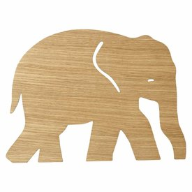Ferm Living Kids Ferm Living wandlamp kinderkamer olifant oiled oak