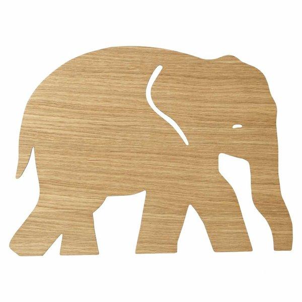 Ferm Living Kids Ferm Living wandlamp kinderkamer olifant oiled oak