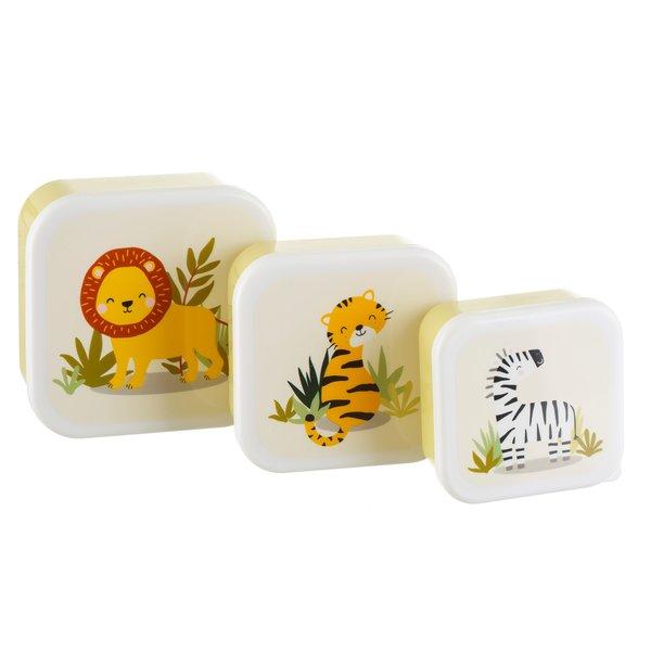 Sass & Belle Sass en Belle snackbox Savanne Set van 3