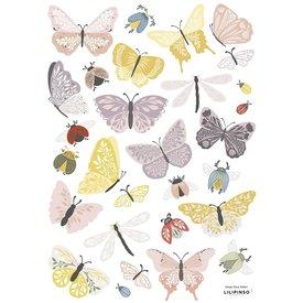 Lilipinso Lilipinso muursticker vlinders en insecten