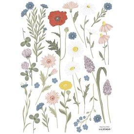 Lilipinso Lilipinso muursticker bloemenweide