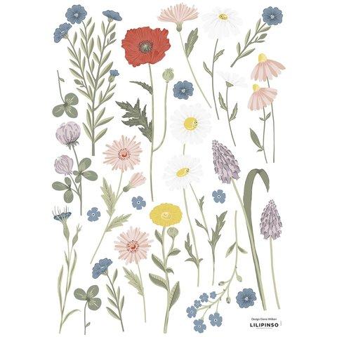Lilipinso muursticker bloemenweide