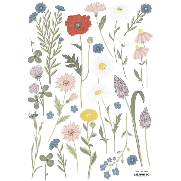 Lilipinso Lilipinso muursticker kinderkamer bloemenweide Country Side