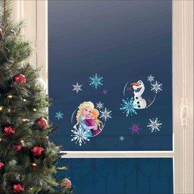 Nouvelles Images Nouvelles Images kerst raamstickers Frozen met pinguïn