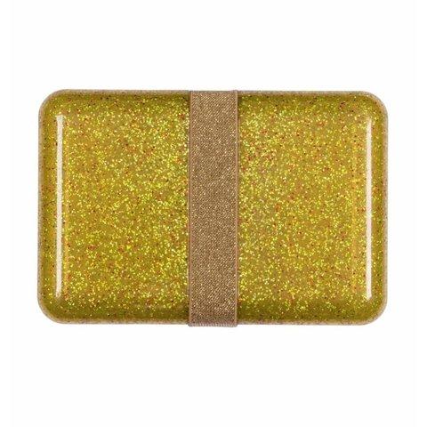 A Lovely Little Company lunchtrommel glitter goud