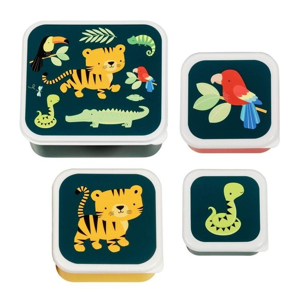 A Lovely Little Company A Lovely Little Company lunchbox jungle dieren set van 4