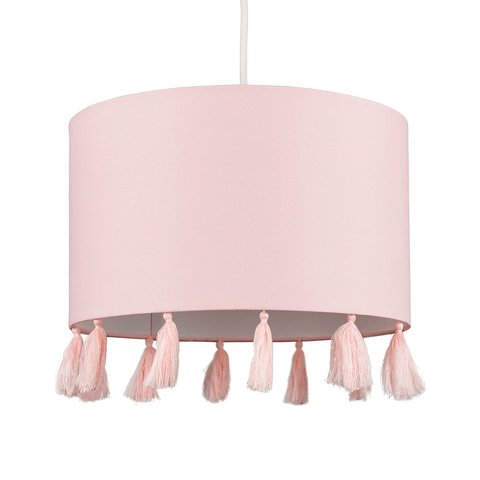 Kinderlamp roze met kwasten