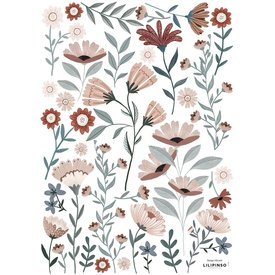 Lilipinso Lilipinso muursticker Ocean Flowers