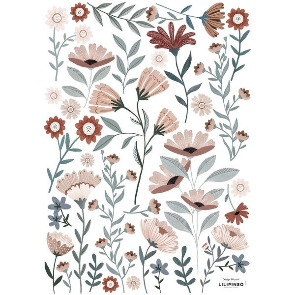 Lilipinso Lilipinso muursticker kinderkamer Ocean Flowers