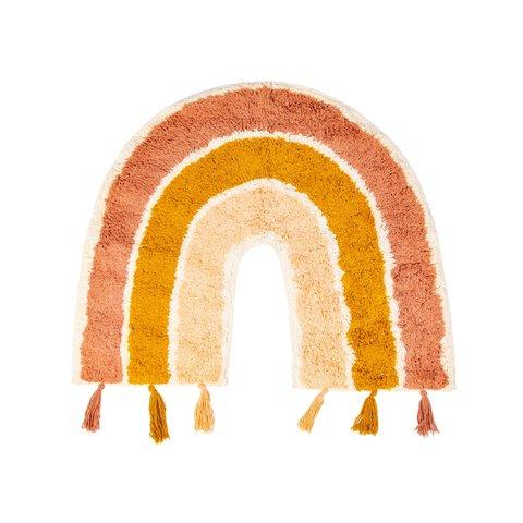 Kindervloerkleed regenboog mini met franjes