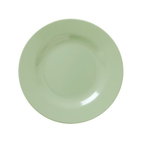 Rice melamine bord khaki groen