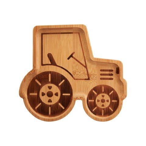 Sass en Belle kinderbord bamboe tractor
