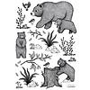 Lilipinso muursticker kinderkamer beren zwart wit