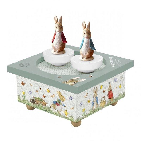 Trousselier Trousselier muziekdoos dansende konijntjes Peter Rabbit