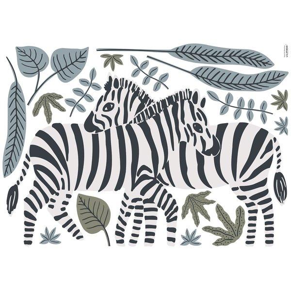 Lilipinso Lilipinso muursticker kinderkamer zebra's Tanzania
