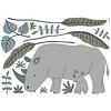 Lilipinso muursticker kinderkamerneushoorns Tanzania